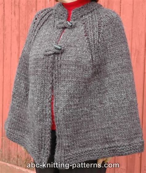 Knit Cape lovely capes to knit 21 free patterns grandmother s