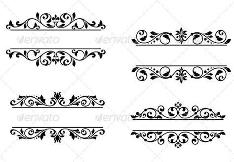 header design simple header frame with retro floral elements medicine editor