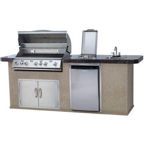 urban islands 5 burner outdoor kitchen island by bull urban islands bbq island 5 burner grill granite tile top