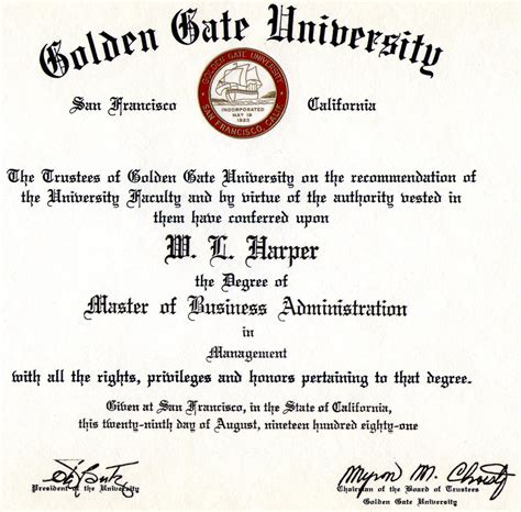 Mba In Of by Masters Of Business Administration Degree And A