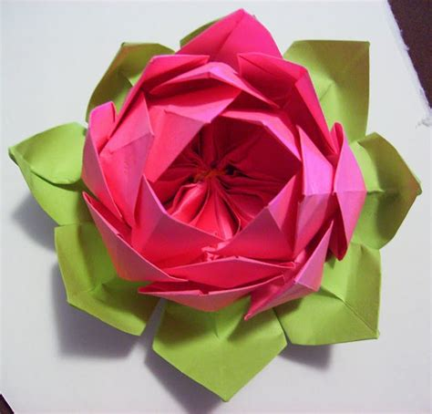 Origami Lotus Flower Tutorial - origami lotus tutorial paper fabric flowers