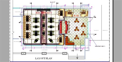 bar restaurant layout plan commercial space planning by alisha arora at coroflot com