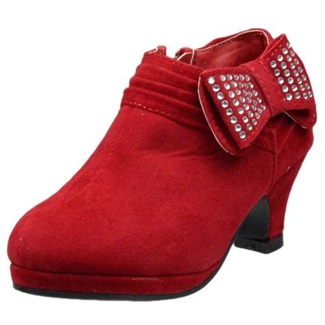 Bow High Heel Ankle Boots ankle boots rhinestone embellished bow high heel