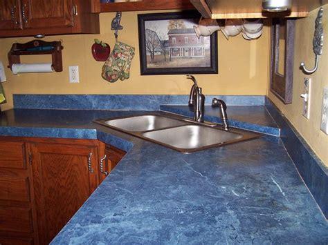 modern kitchen interior design  blue countertop