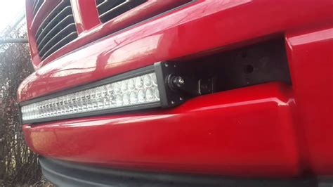How To Install A Led Light Bar How To Install Led Light Bar In Dodge Ram Part 1
