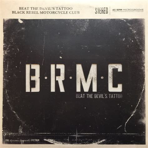 black rebel motorcycle club beat the devil s tattoo at