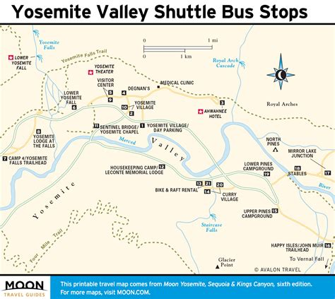 yosemite park map printable travel maps of yosemite national park moon