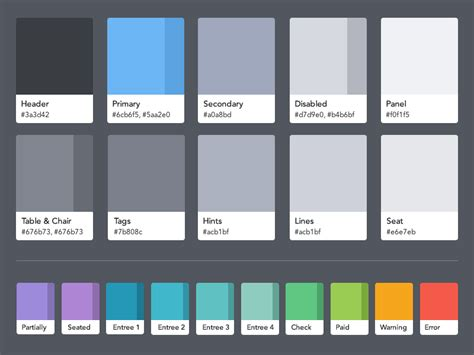 contrast color for grey opentable guest center color palette ipad
