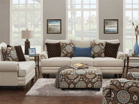 fusion room fusion living room set in white linen