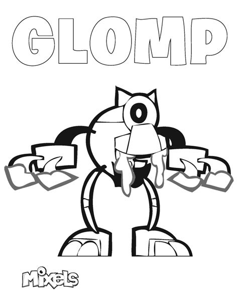 coloring pages lego mixels mixels coloring page glomp eric s activity pages