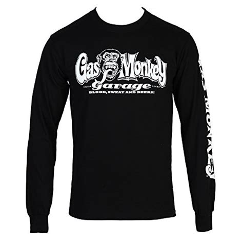Monkey Print Sleeve T Shirt gas monkey garage blood sweat beers longsleeve t shirt w