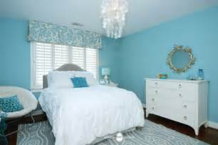 inspired aqua bedroom transitional