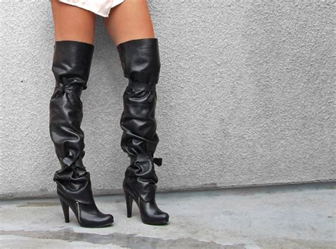 iconic in leather boots