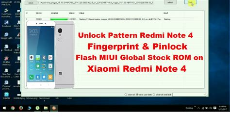 redmi note 4g pattern unlock unlock pattern redmi note 4 flash miui global rom on