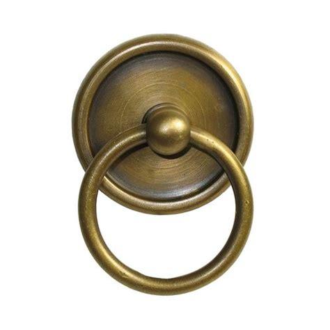 Unlacquered Brass Cabinet Hardware by Gado Gado Ring Pulls 1 5 8 Inch Diameter Unlacquered