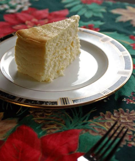 crustless cheesecake in springform pan