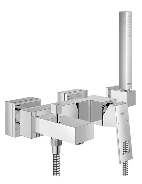 duschbrause set grohe grohe eurocube wall mounted bath mixer with shower set
