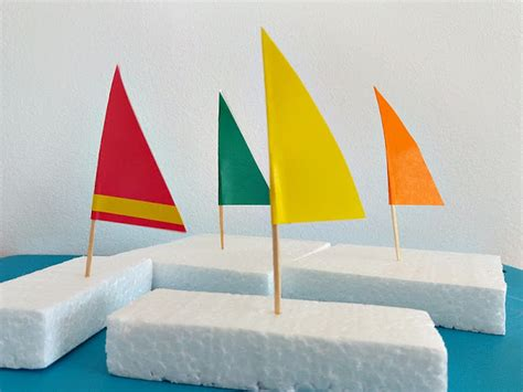 styrofoam sailboats fun family crafts