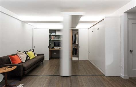 movable walls for apartments small apartment with moving wall by mkca
