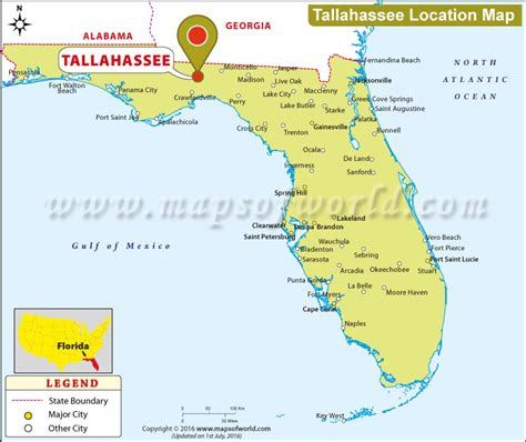where is tallahassee florida location map of tallahassee usa