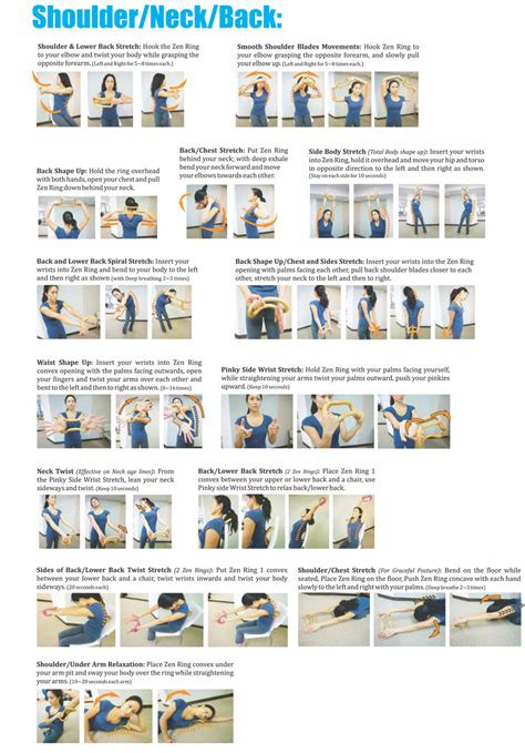 Desk Stretches For Neck And Shoulders by Wave Stretch Exercise Shoulder Neck Back Fitness