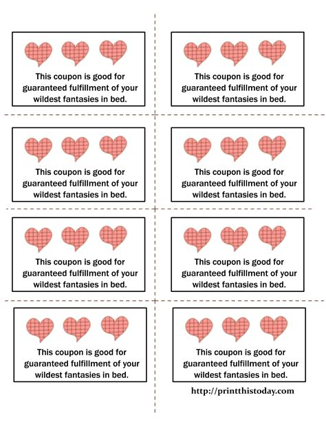 free printable love coupons templates printable love coupons