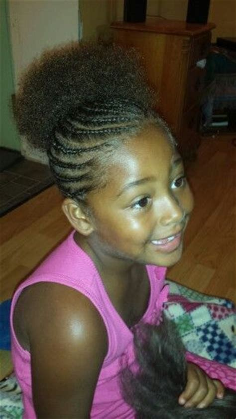 stylish cornrow puff 231 best images about cornrow styles for little girls on