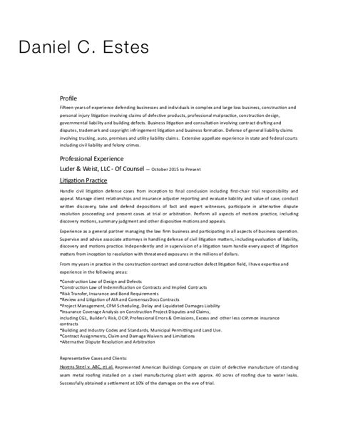 Firm Resume