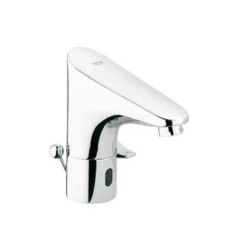 grohe 42841000 europlus mounting set grohe europlus e infrared electronics for basin with mixer and pop up waste set 36236001