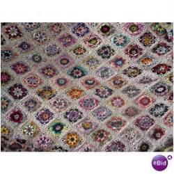 Handmade Afghan Blanket For Sale - handmade crochet afghan bedspread throw heirloom on ebid