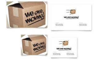 office moving note card template design