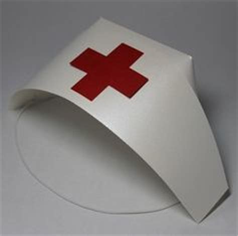 How To Make A Nurses Hat Out Of Paper - how to make a nurses cap costume out of paper paper