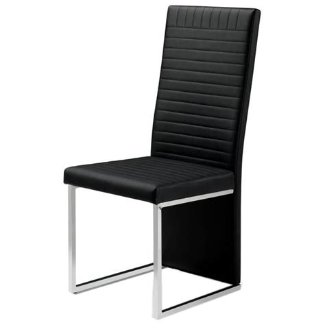 tempo black faux leather dining chair dining chairs fads