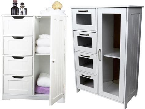 white wooden cabinet   drawers glass cupboard storage bathroom  bedroom ebay