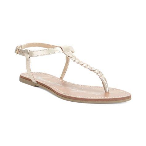 braided sandals american rag kelli braided sandals in gold metalic