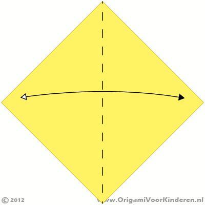 bootje vouwen vierkant papier boot 1 heel makkelijk origami voor kinderen