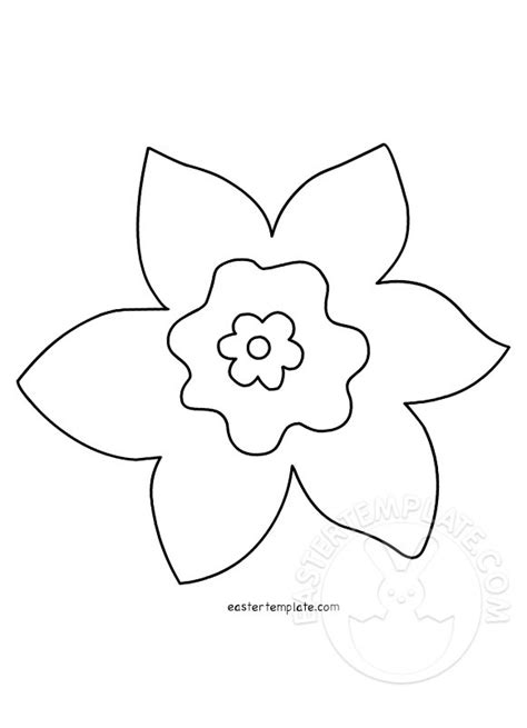 Template Of A Daffodil by Daffodil Design In Black And White Easter Template