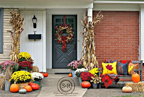 fall decorating outside your house outdoor fall decorations with farmhouse style the