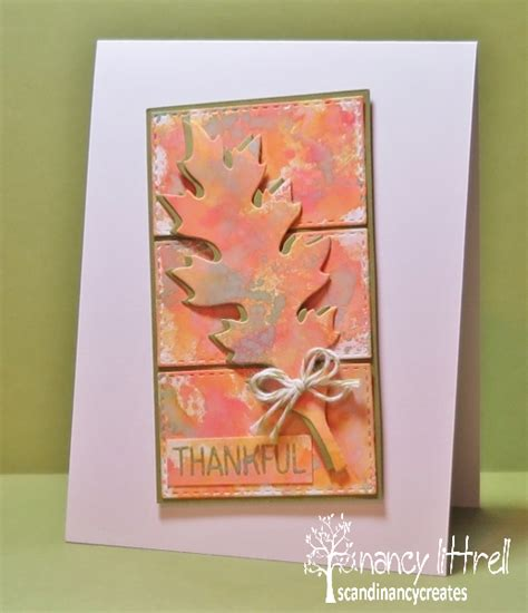 Simon Says St Gift Card - scandinancy creates cas watercolour fall leaves 1st birthday