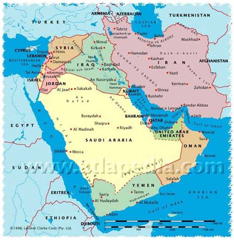 united arab emirates map political map of saudi arabia israel lebanon syria iraq iran kuwait bahrain