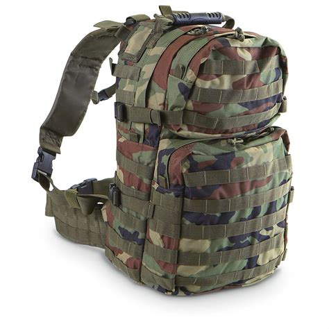 molle 3 day pack voodoo tactical 3 day assault pack woodland camo