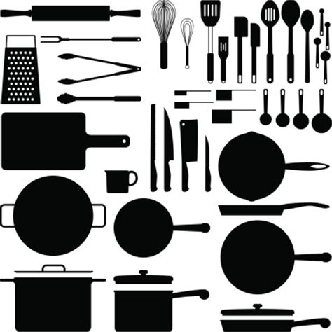 kitchen equipment with label kitchen equipment set - Hellblaues Hauptschlafzimmer