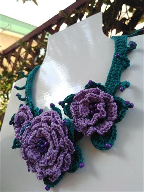 fiori all uncinetto per collane collana con fiori ad uncinetto gioielli collane di