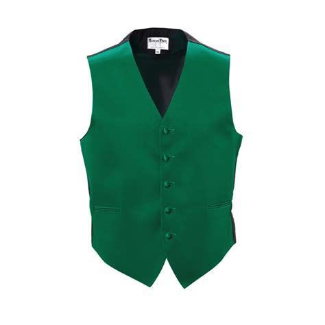 Green Vest emerald green tuxedo vest mens satin with bow tie or tie wedding tux