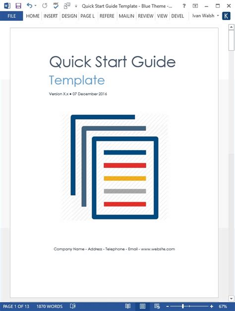 quick reference guide templates for word quick start guide template invitation template