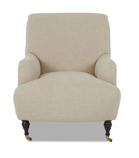 klaussner cameron  oc traditional accent chair  rolled arms  casters pilgrim