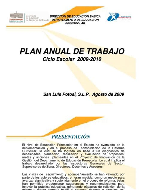 plan anual de cta 2 perueduca ejemplo de plan anual de trabajo para preescolar