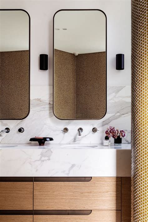 Modern Style Bathroom Mirrors Contemporary Design Mirror And Marbles On