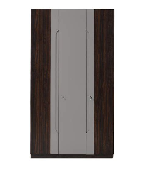 home nilkamal vincent 3 door wardrobe without mirror
