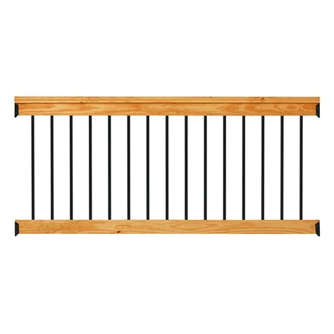 6 Foot Handrail Deckorail Western Cedar 6 Ft Railing Kit With Black